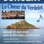 Concert : le Chœur du Verdelet Saint-Alban