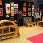 Exposition de cartonnage-couture Pleyben