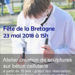 Atelier de création de sculptures sur béton cellulaire GUEMENE SUR SCORFF