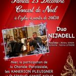 Concert de Noël avec le Duo NIJADELL (Fabrice LOTHODE et Jérémy SIMON) PLUVIGNER