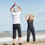 Stretching sur la plage de la Source PENESTIN