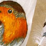 Exposition de peintures sur plume par Christiane Gaimon ARRADON