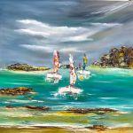 Exposition des œuvres du peintre Shahine Blonz. Pleyber-Christ