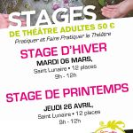 Stage de théâtre adultes - stage de printemps Saint-Lunaire