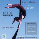 Stage tissus aériens avec Fred Deb\ Saint-Nazaire